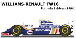 Williams - Renault FW16 n.2 Formula 1 1994 with driver Ayrton Senna