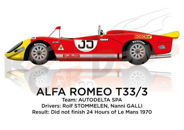 Alfa Romeo T33/3 n.35 did not finish 24 Hours of Le Mans 1970