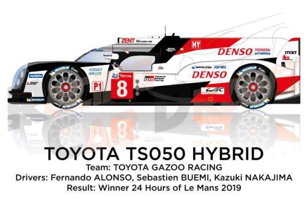 Toyota Hybrid TS050 n.8 winner 24 Hours of Le Mans 2019