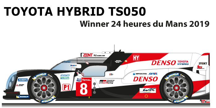 Toyota Hybrid TS050 n.8 winner 24 Hours of Le Mans 2019