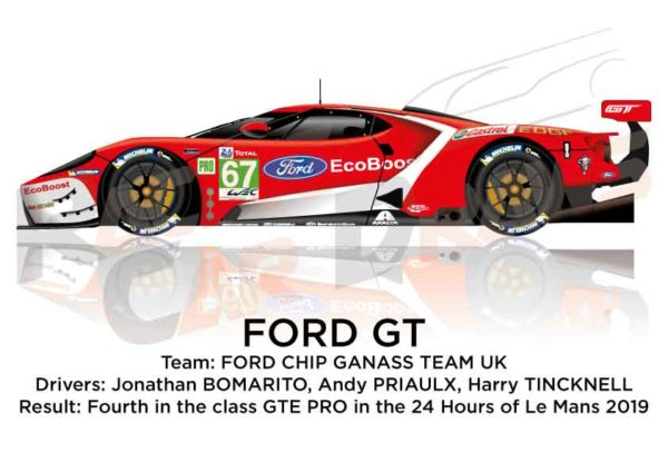 Ford GT n.67 fourth in the class GTE PRO 24 Hours of Le Mans 2019