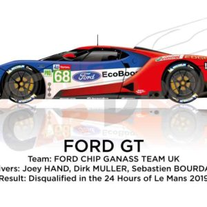 Ford GT n.68 disqualified in the class GTE PRO 24 Hours of Le Mans 2019