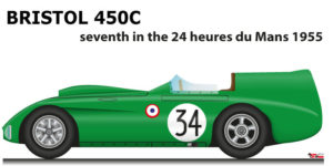 Bristol 450C n.34 seventh in the 24 Hours of Le Mans 1955
