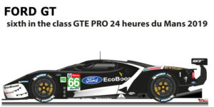Ford GT n.66 sixth in the class GTE PRO 24 Hours of Le Mans 2019