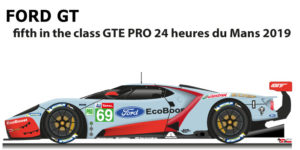 Ford GT n.69 fifth in the class GTE PRO 24 Hours of Le Mans 2019