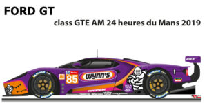 Ford GT n.85 disqualified class GTE AM 24 Hours of Le Mans 2019