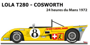Lola T280 - Cosworth n.8 did not finish 24 Hours of Le Mans 1972