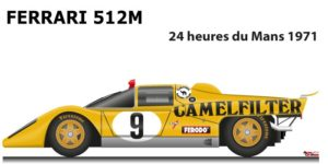 Ferrari 512 M n.9 did not finish in the 24 Hours of Le Mans 1971