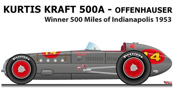Kurtis Kraft 500A - Offenhauser n.14 winner 500 Miles of Indianapolis 1953