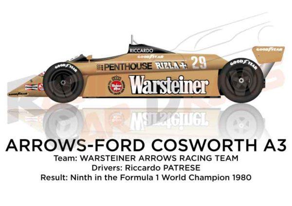 Arrows - Ford Cosworth A3 n.29 ninth Formula 1 World Champion 1980