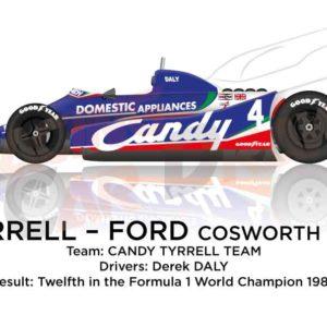 Tyrrell - Ford Cosworth 010 n.4 twelfth Formula 1 World Champion 1980