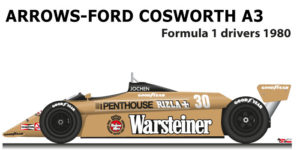 Arrows - Ford Cosworth A3 n.29 seventeenth Formula 1 World Champion 1980