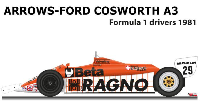 Arrows - Ford Cosworth A3 n.29 eleventh Formula 1 World Champion 1981