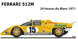 Ferrari 512 M n.15 did not finish in the 24 Hours of Le Mans 1971