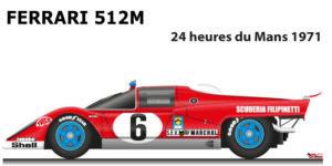 Ferrari 512 M n.6 did not finish in the 24 Hours of Le Mans 1971