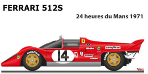 Ferrari 512 S n.14 did not finish in the 24 Hours of Le Mans 1971