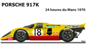 Porsche 917 K n.18 did not finish in the 24 Hours of Le Mans 1970