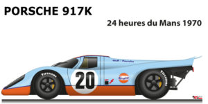 Porsche 917 K n.20 did not finish in the 24 Hours of Le Mans 1970