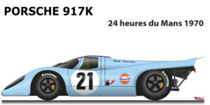 Porsche 917 K n.21 did not finish in the 24 Hours of Le Mans 1970