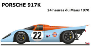 Porsche 917 K n.22 did not finish in the 24 Hours of Le Mans 1970