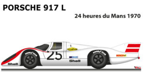 Porsche 917 L n.25 did not finish at the 24 Hours of Le Mans 1970