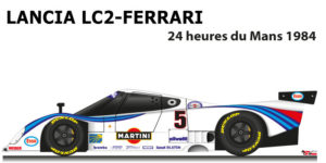Lancia LC2 - Ferrari n.5 did not finish in the 24 Hours of Le Mans 1984