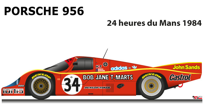Porsche 956 n.34 did not finish in the 24 Hours of Le Mans 1984