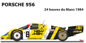 Porsche 956 n.8 did not finish in the 24 Hours of Le Mans 1984