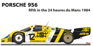 Porsche 956 n.12 fifth in the 24 Hours of Le Mans 1984