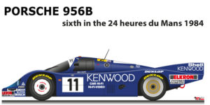 Porsche 956 n.11 sixth in the 24 Hours of Le Mans 1984