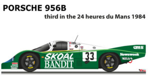 Porsche 956 n.33 third in the 24 Hours of Le Mans 1984