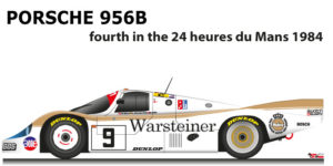 Porsche 956 n.9 fourth in the 24 Hours of Le Mans 1984