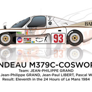 Rondeau M379C - Cosworth n.93 eleventh in 24 Hours of Le Mans 1984
