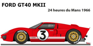 Ford GT40 MK II n.3 did not finish in the 24 Hours of Le Mans 1966
