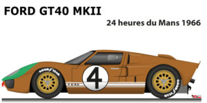 Ford GT40 MK II n.4 did not finish in the 24 Hours of Le Mans 1966