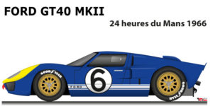Ford GT40 MK II n.6 did not finish in the 24 Hours of Le Mans 1966