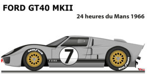 Ford GT40 MK II n.7 did not finish in the 24 Hours of Le Mans 1966