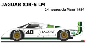 Jaguar XJR-5 LM n.40 did not finish in the 24 Hours of Le Mans 1984
