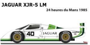 Jaguar XJR-5 LM n.40 did not finish in the 24 Hours of Le Mans 1985