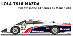 Lola T616 - Mazda n.67 twelfth in the 24 Hours of Le Mans 1984