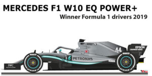 Mercedes F1 W10 EQ Power+ n.44 Winner Formula 1 World Champion 2019