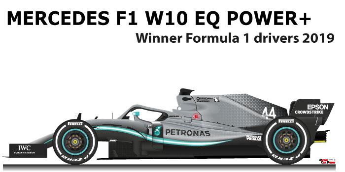 Mercedes F1 W10 EQ Power+ n.44 Winner Formula 1 World Champion 2019