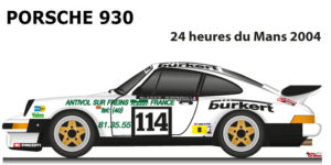 Porsche 930 n.114 did not finish in the 24 hours of Le Mans 1984