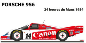 Porsche 956 n.14 did not finish in the 24 Hours of Le Mans 1984
