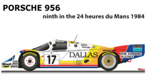 Porsche 956 n.17 ninth in the 24 Hours of Le Mans 1984