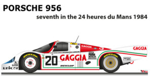 Porsche 956 n.20 seventh in the 24 Hours of Le Mans 1984