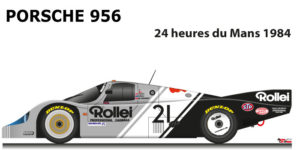 Porsche 956 n.21 did not finish in the 24 Hours of Le Mans 1984