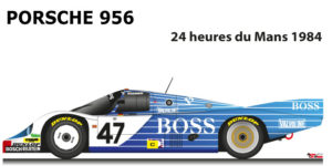 Porsche 956 n.47 did not finish in the 24 Hours of Le Mans 1984
