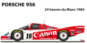 Porsche 956 n.16 did not finish in the 24 Hours of Le Mans 1984