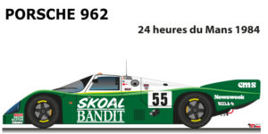 Porsche 962 n.55 did not finish in the 24 Hours of Le Mans 1984